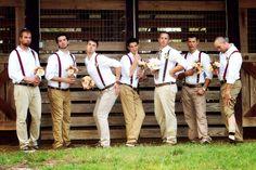 Groomsmen photo  acting like ladies.