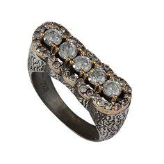 Ottoman Style  Diamond Cut White Topaz  Sultan by jewelstanbul, $59.00