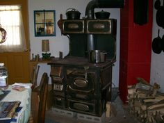 My old Woodcook stove...my only source of heat...burned up alot of wood that winter.