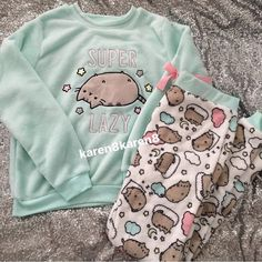 Primark Ladies PUSHEEN THE CAT Fleece Jumper Pyjamas Womens Pajamas