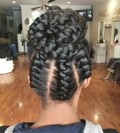 20 Under Braids Ideas to Disclose Your Natural Beauty Under Braids In A Bun Updo Braided Hairstyles Updo, Braided Hairstyles For Black Women, Short Bob Hairstyles, Bun Updo, Protective Hairstyles, Hairstyles Videos, Black Hairstyles, Protective Styles, Updos