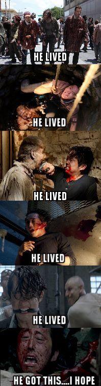 Will Glenn survive this unfortunate event?? #HeLived #Glenn #TWD #Survive #Died #Suspense