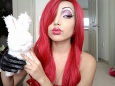 Jessica Rabbit Halloween Makeup - This is one of the gurus on youtube, so there is a tutorial for this
