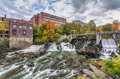 Magog River Downtown Sherbrooke by Pierre Leclerc Photography - Bitcoin Mining Rigs - Ideas of Bitcoin Mining Rigs - Magog River in Downtown Sherbrooke Quebec in Autumn Bitcoin Mining Rigs, What Is Bitcoin Mining, News China, Mining Pool, Night Photography, Exposure Photography, Quebec, Great Photos, The Expanse