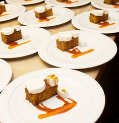 Plates of deconstructed carrot cake, prepared by chef Michael DiBianca - February 6 (Photo by Philip Gross) Deconstructed Food, James Beard Foundation, Garden Cakes, Deconstruction, Cake Plates, Strawberry Shortcake, Carrot Cake, Carrots, Waffles