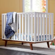Modern Convertible Crib #westelm