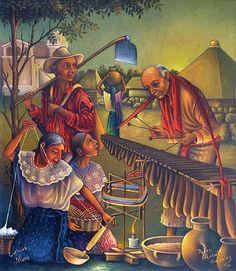 Pedro Rafael González Chavajay artista indígena maya de Guatemala