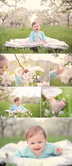 Baby & blossoms photography.