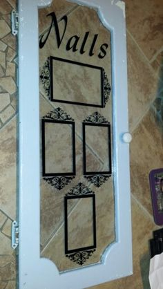 Vintage Cabinet Door repurposed as a Special Family Frame Vintage Cabinet, Vintage Windows, Cabinet Doors, Repurposed, Frame, Vintage Armoire, Picture Frame, Frames, Upcycling
