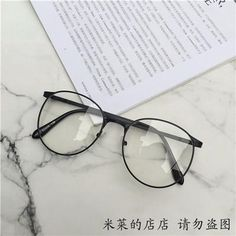7ab12b860822 Korean style clear round transparent glasses metallic frame. itGirl Shop