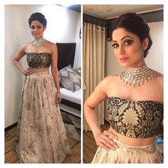 @shamitashetty_official looking hot in #PayalSinghal. We have some stunning new pieces in store now from one our favourite brands!! #indiandesigner #stylestatement #payalsinghal #bibilondon #indiancouture #ss16 #lengha #brocade call us on 07931 999111