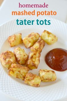 Our homemade tater tots are easy to make! We use leftover mashed potatoes to turn them into mashed potato tater tots! Homemade Mashed Potato Tater Tots can be baked, fried or even air fried in Tater Tot Recipes, Baby Food Recipes, Cooking Recipes, Potato Recipes, Skillet Recipes, Cooking Gadgets, Pizza Recipes, Kitchen Gadgets, Chicken Recipes