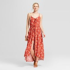 e0895a52198 Women s Strappy Floral Maxi Romper - Xhilaration™   Target