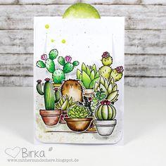 Birdie Brown Cool Cat and Laina Lamb Design Sweet Succulents stamp sets and Die-namics - Birka Reintiz #mftstamps