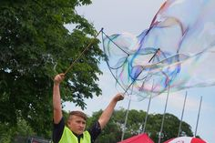 Riesenseifenblasen Fair Grounds, Wizards, Kids