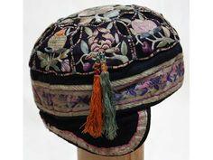 Véra May: broderie _ textile _ costume ethnique _ Bonnet de bébé de la minorité Miao HA16ZT001.