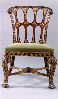 Set of Ten Saloon Chairs Attributed to John Boson and Possibly Designed by William Kent. English. Circa 1740.