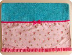 Pedacinhos de Arco Íris: Toalhas de praia com tecido e folho (beach towel)