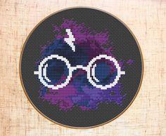 Harry Potter cross stitch pattern. Space themed.