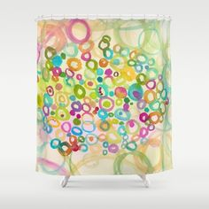 jellyfish shower curtain, mint green shower curtain, modern shower