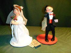 Annalee Bride Groom Dolls Vintage Very Good Condition w Original Tags   eBay