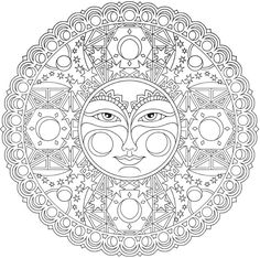 "Creative Haven ""Celestial Mandalas"" Coloring Page 
