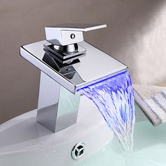Water Treatment Appliance Parts Generous 3 Color Led Light Change Faucet Shower Water Tap Temperature Sensor No Battery Water Faucet Glow Bathroom Shower Faucet Relieving Heat And Thirst.