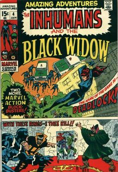 Amazing Adventures. The Inhumans and the Black Widow. Vol. 2 #4 by John Buscema & John Verpoorten