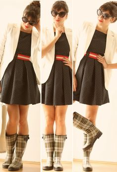 galocha com vestido