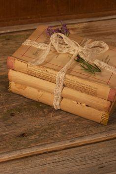 Antique Book Bundle for Wedding Centerpiece Literary Lovers, Vintage Wedding Decor. $24.00, via Etsy.