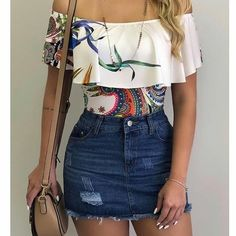 Swans Style is the top online fashion store for women. Shop sexy club dresses, jeans, shoes, bodysuits, skirts and more. Teen Fashion Outfits, Cute Fashion, Trendy Outfits, Womens Fashion, Fashion Trends, Summer Work Outfits, Spring Outfits, Skirt Outfits, Pinterest Fashion
