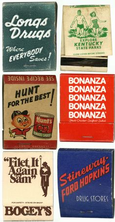 Vintage #MatchBooks  To Order Your Business' Own Branded #Matchbooks or #Matchboxes GoTo: www.theMatchgroup.com or CALL 800.605.7331 TODAY!