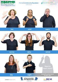 Free Auslan Posters - National Week of Deaf People Sign Language Book, Sign Language For Kids, Sign Language Phrases, Sign Language Alphabet, Australian Sign Language, British Sign Language, Science Education, Physical Education, National Week