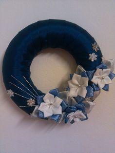 modro-strieborný venček christmas 2014