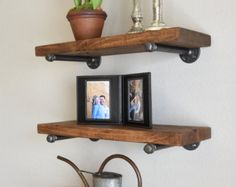 8 Depth Floating Shelf with industrial pipe by HenryLewisHome