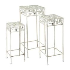 Set of 3 Tonia Square Garden Tables