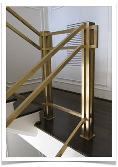 Ordinary Brass Stair Handrail Brass Stair Rail Has Such An Art Deco Look  About It. Resolution: 490 X Size: 44 KB.