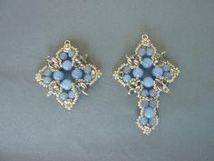 FREE beading pattern: Tudor Cross Pendant