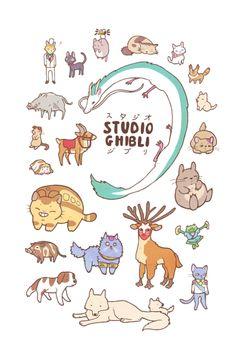 stephhodges:NEWAnimals of Studio Ghibli design available here.