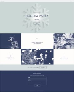 Holiday Party Invitation | Website Template