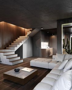 43 Contemporary Modern Interior Design For Your Home Design - FashDeco Modern Apartment Design, Contemporary Apartment, Modern House Design, Modern Interior Design, Interior Design Inspiration, Home Design, Interior Ideas, Modern Houses, Design Ideas