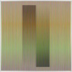 CARLOS CRUZ-DIEZ Physichromie 1835, 2013  cromografía en papel sobre perfiles de aluminio 31 1/2 × 31 1/2 in 80 × 80 cm