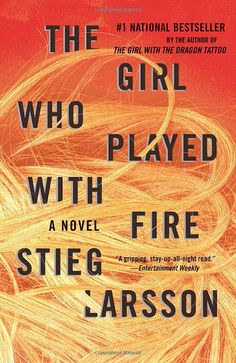 The Girl Who Played With Fire by Stieg Larsson.  Published by Knopf in 2009. Cover art by Peter Mendelsund.