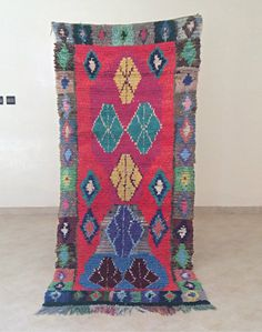 Boucherouite Rug from Morocco, this is a handmade vintage rug beautiful design and colours, gorgeous Moroccan craftsmanship ft x ft by AuthenticBeniOurain on Etsy Morrocan Rug, Moroccan, Shops, Geometric Rug, Berber Rug, Rugs On Carpet, Carpets, Outdoor Rugs, Wool Area Rugs