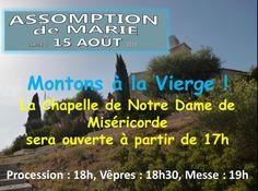Rendez-vous samedi à la Chapelle de Notre Dame de Miséricorde à 18h pour la procession.