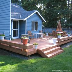 Platform deck designs are the perfect match for level backyards. Use the space to your advantage with clever ideas such as benches instead of rails to mark ...