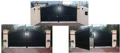 Hezo portail battant en aluminium contemporain klosea design moderne pinterest Portail aluminium battant