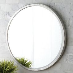 Divinity Round Mirror - Made of hammered aluminum with inset beveled glass, Divinity offers just the right touch of glimmer and textual interest; simply divine paired with Native Trails Brushed Nickel lavatory sinks and any Renewal Series bamboo vanity. Mirror Ceiling, Wall Mirrors Entryway, Big Wall Mirrors, Black Wall Mirror, Rustic Wall Mirrors, Living Room Mirrors, Round Wall Mirror, Round Mirrors, Frames On Wall