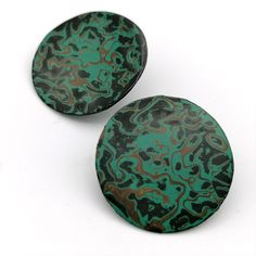 Slow Jewellery made using the ancient traditional technique of Japanese Urushi Lacquer. Coloured layers slowly built up overtime, sanded and polished to a mirror finish. Check out my Etsy and Instagram for more information. Round Earrings, Layers, Jewelry Making, Unique Jewelry, Handmade Gifts, Japanese, Traditional, Jewellery, Mirror