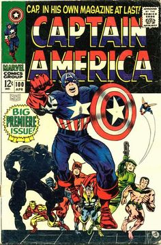 Captain America Vol. 1 #100, April 1968. First issue of Cap's own comic (don't ask).